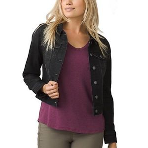 prAna Black Denim Jacket